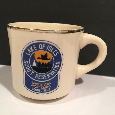 lake of isles Boyscout reservation long river scout Camps Ct.coffee mug Vintage