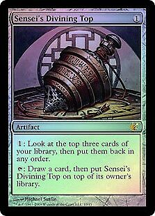 MTG 1x SENSEI'S DIVINING TOP - From the Vault Exiled *FOIL NM*
