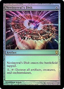 MTG 1x NEVINYRRAL'S DISK - From the Vault Relics *FOIL NM*