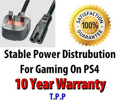 NEW UK Mains Power Lead Cable Cord For Sony Playstation PS4 PS 4 Console