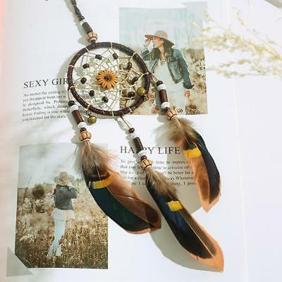 "18"" Dream Catcher With feathers Wall Car Hanging Decoration Decor Bead Ornament"