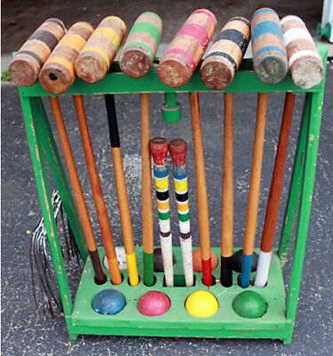 Vintage Kourt King Croquet Set 8 Player Local Pick Up Only