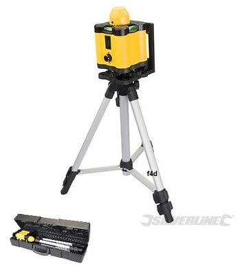 Silverline 30m 360° Rotary Laser Level Self Levelling Cross Line Measuring Case