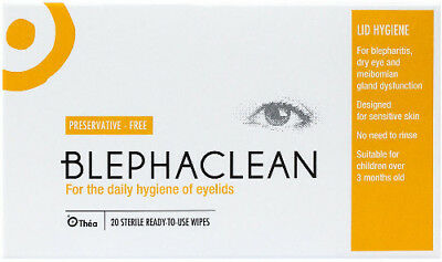 Blephaclean Sterile Eyelid Wipes, Hydrates Eyes, Suitable For Contacts