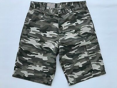 21489b6bac Men's Camo Cargo Shorts Size 34 Waist Beige 11 Inch Inseam Work King New