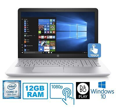 "HP Pavilion 15-CC Intel Core i7-8850U 12GB 1TB HDD 15.6"" FHD Touch Screen Laptop"