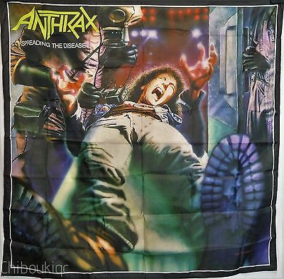 ANTHRAX Spreading the Disease HUGE 4X4 BANNER fabric poster tapestry cd album