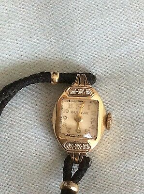 ART DECO LADIES BULOVER WATCH IN 14ct SOLID GOLD ,DIAMOND..REDUCED...