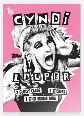2018 Topps Wrapper Art #14 Cyndi Lauper 1985 Card ONLY 80th Anniversary 146 Made