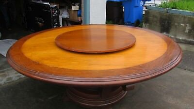 Phillipine, mahogany, hard wood table,150 years old dning table w/ lazy susan