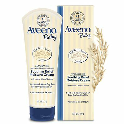 Aveeno Baby Soothing Relief Moisturizing Cream For Dry Sensitive Skin, 8 Oz
