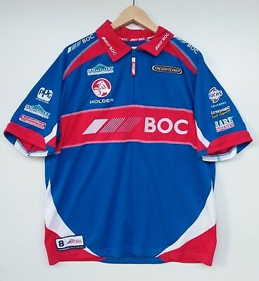 TEAM BOC V8 Supercars Holden racing short sleeve polo t-shirt size XL