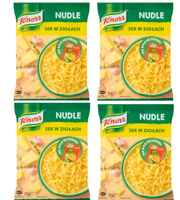 Knorr Instant Cheese and Herbs Soup with Noodles 4x61G Soup Mix
