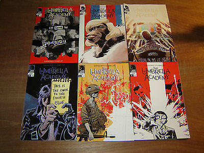 UMBRELLA ACADEMY: DALLAS 1-6; Gerard Way MCR 1st print MY CHEMICAL ROMANCE