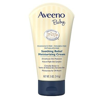 Aveeno Baby Soothing Relief Moisturizing Cream For Dry Sensitive Skin, 5 Oz