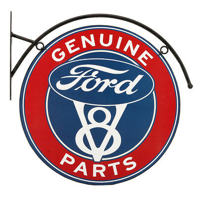 Genuine Ford Parts Flanged Metal Hanging Sign