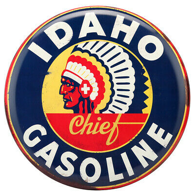 Idaho Gasoline Rustic Embossed Metal Sign