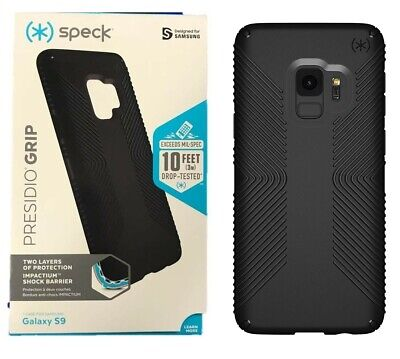 Speck Presidio Grip Case Cover Protection For Samsung Galaxy S9 Black NEW