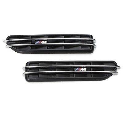 Air Flow Side Fender Vents Mesh Sticker Grille For BMW E60 M5 E61 E39 E90 M S8X4