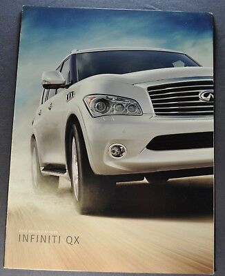2012 Infiniti QX Specifications Sales Brochure Folder Excellent Original 12