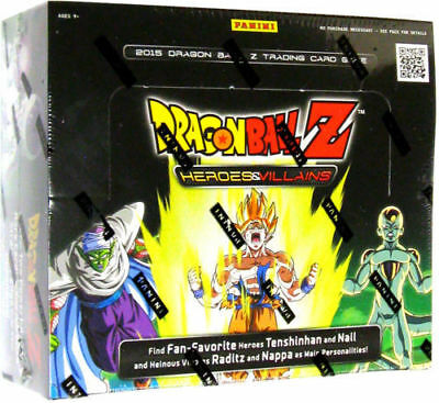 Dragon Ball Z Heroes & Villains Booster Box - Panini 24 Packs -TCG Trading Cards