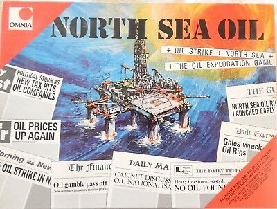 Vintage 1974 North Sea Oil Board Game by Omnia