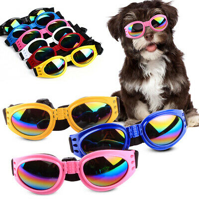 1pair SMALL PET DOG Goggles Doggles ILS SUNGLASSES UV Eye Protection Colorful#43