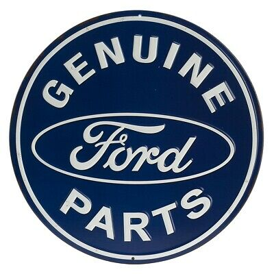 Ford Genuine Parts Round Embossed Tin Sign