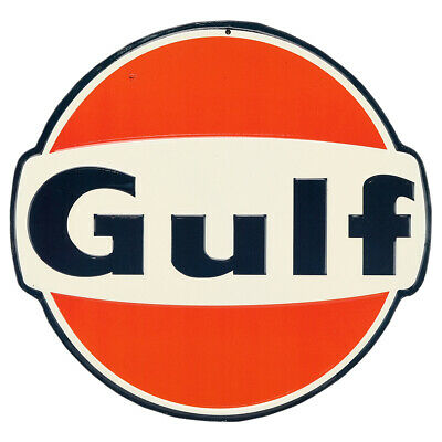 Gulf Oil Embossed Tin Sign