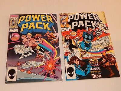 Power Pack #1 and #19 Origin story + Thor Beta Ray Bill Wolverine Cloak & Dagger