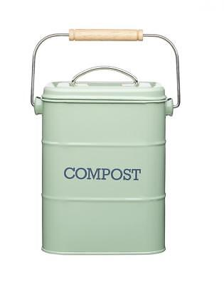 KitchenCraft Living Nostalgia Metal Kitchen Compost Bin, 16.5 x 12 24 cm...