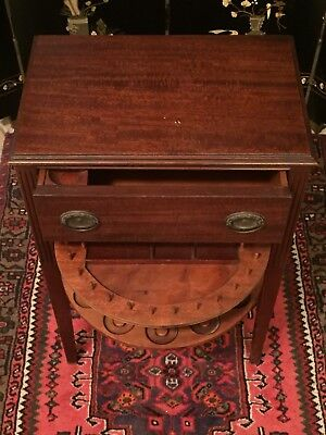Antique Jewelry Night Stand Carved Wood Usa End Table Cabinet Furniture Country