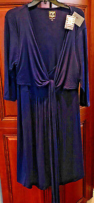 Nwt Rosie Pope Pip & Vine Pink Knotted Nursing Maternity Dress Plus Size 2X Navy