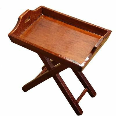 Dollhouse Miniature Toy 1:12 Kitchen Wooden Tray Table Height 6cm H8P1
