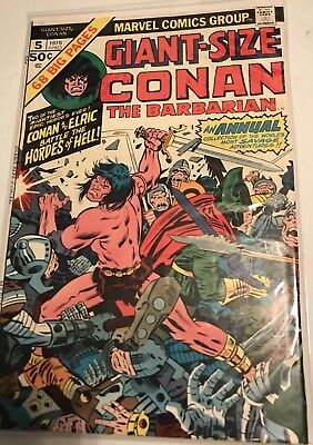Marvel Comics Conan The Barbarian Giant Size  Conan And Elric