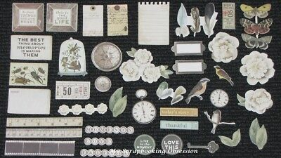 Kaisercraft 'ANTHOLOGY' Collectables Die Cut Shapes Floral/Vintage KAISER