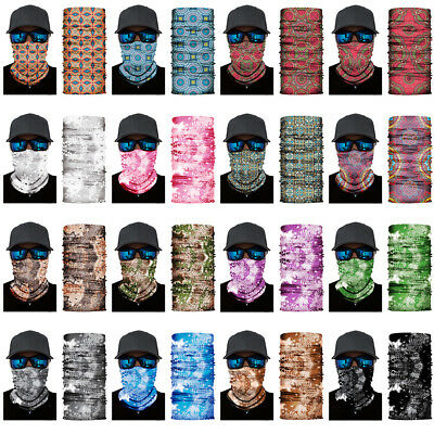 3D Geometric pattern Face Shield Sun Mask Neck Gaiter Balaclava Scarf Headwear