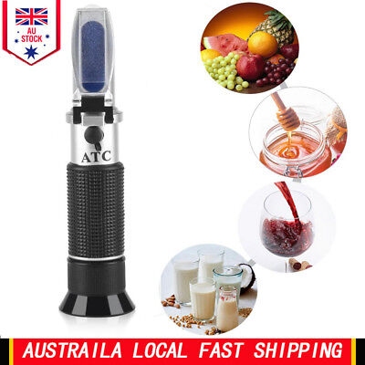 0~32% Accurate Brix Refractometer Honey Beer Fruit Juice Sugar Tester Meter