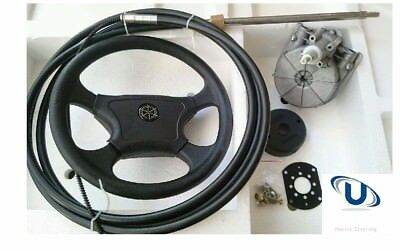 NEW  2.44m~8FT UNIVERSAL BOAT STEERING WHEEL SYSTEM QUICK CONNECT STEERING KIT