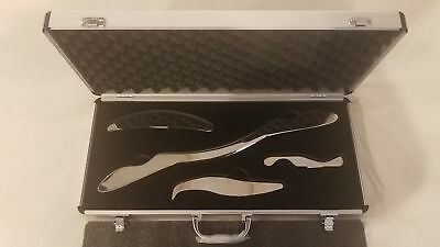 5 SETS!! IASTM MyoFascial Graston Gua sha Tools Medical Grade Stainless Steel