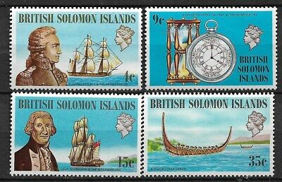 British Solomon Islands 1973 Ships Set Of 4 (MNG)