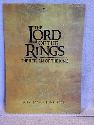 Calendar Lord of the Rings - The Return of the King July 2004-June 2005 Calendar