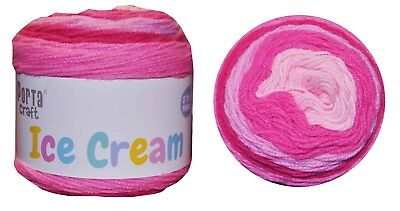 Ice Cream Yarn 200g 380m 100% Acrylic 8 ply like Caron Cake Pink Haze