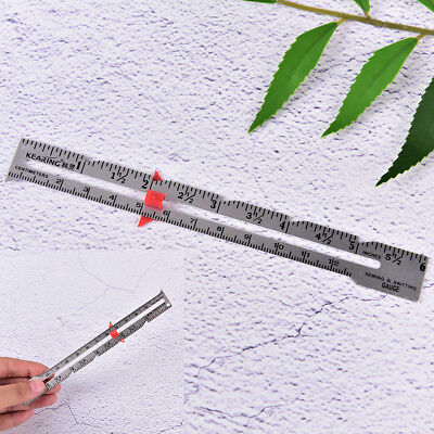 15cm Hemline sewing gauge ruler cloth sewing measuring gauging tailoring tool O