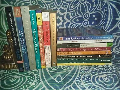 LOT of 15 Buddhism / Meditation books - Eastern Spirituality - Tibetan - Buddha