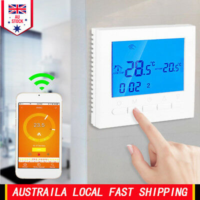 Programmable Smart Wifi Wireless Digital Thermostat LCD Touch App Control