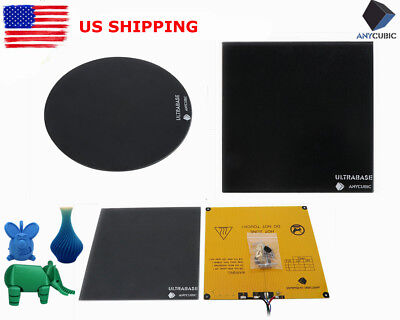 *US STOCK* ANYCUBIC Multi-Size Ultrabase Glass Plate / Heated Bed for 3D Printer