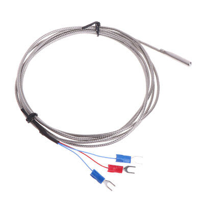 RTD PT100 Stainless Steel Temperature Sensor Thermocouple with 2m 3 Cable Wires
