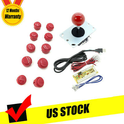 Arcade Buttons and Joystick Kit for Sanwa Game DIY Parts Zero Delay USB Encoder