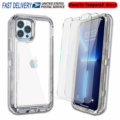 iPhone XS/ 8 / 7 / 6s/Plus Clear Soft TPU Case + Tempered Glass Screen Protector